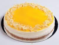 עוגת גבינה ללא אפיה עם ציפוי פריגת מנגו או אפרסק