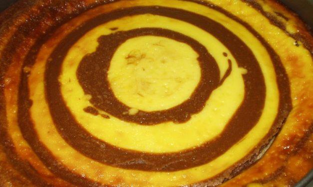 עוגת גבינה זברה