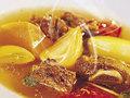 מרק בשר עם ירקות וחוויאג'