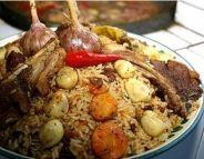 """""""פלוב"""" בוכארי אורגינלי- תבשיל בשר ירקות ואורז"""