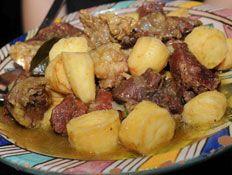 סופריטו של לחי עגל (ספק) עם תפוחי אדמה וערמונים